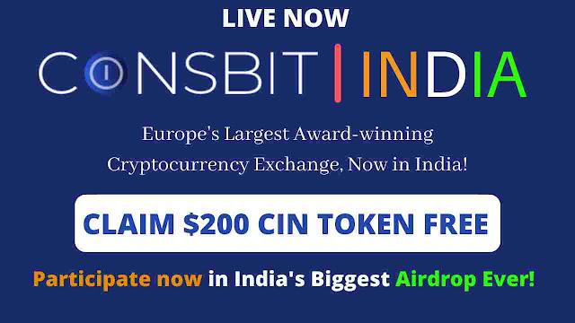 Coinsbit India Exchange Airdrop