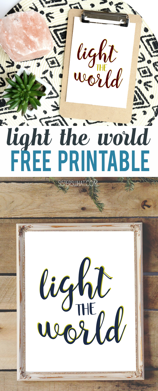 Free Christmas Printable Light the World