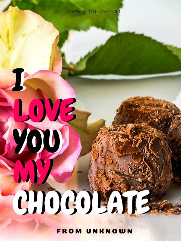 I Love You Images with Rose and Chocolate
