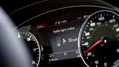 """audi becomes  the first car company to integrate predictive traffic monitoring """