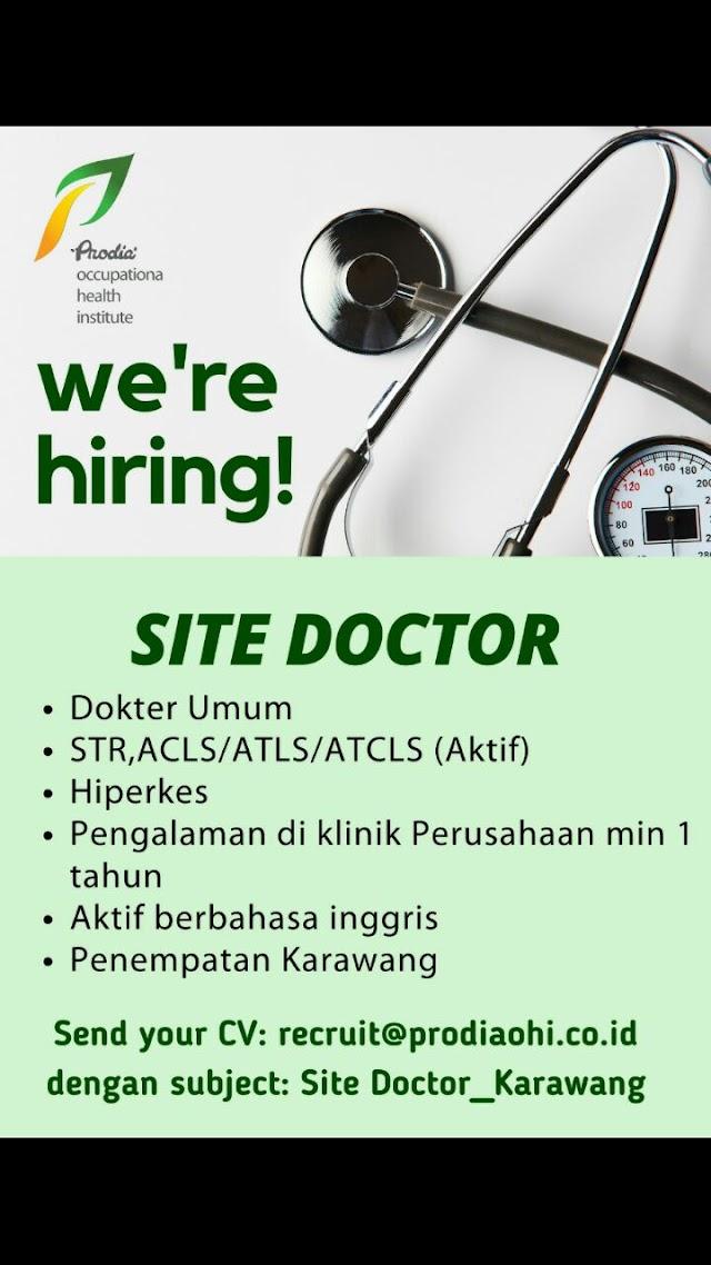 Loker Dokter Site Doctor Prodia Penempatan Karawang