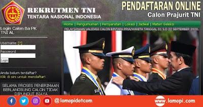 Pendaftaran BINTARA PK TNI AL