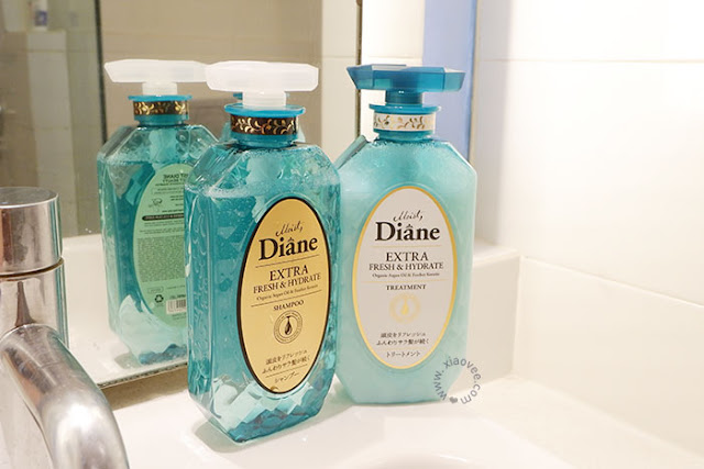 Moist Diane Extra Fresh & Hydrate Shampoo, Moist Diane Extra Fresh & Hydrate Treatment, Japanese Shampoo Review, Moist Diane Review, Moist Diane Japan Shampoo