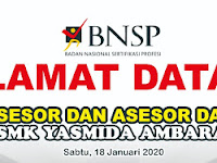 Desain Banner BNSP Selamat Datang Asesor SMK Yasmida