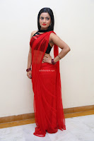 Aasma Syed in Red Saree Sleeveless Black Choli Spicy Pics ~  Exclusive Celebrities Galleries 042.jpg