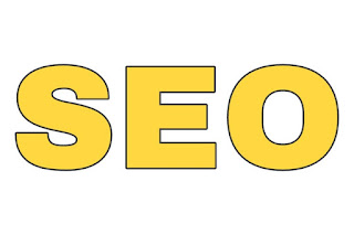 seo written in big yellow letters