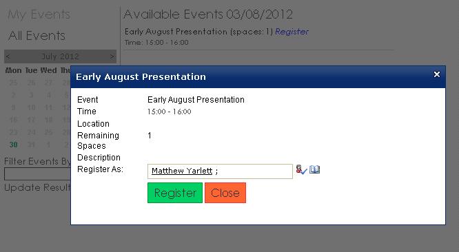 Matthew Yarlett: Adding appointments to an Outlook calendar