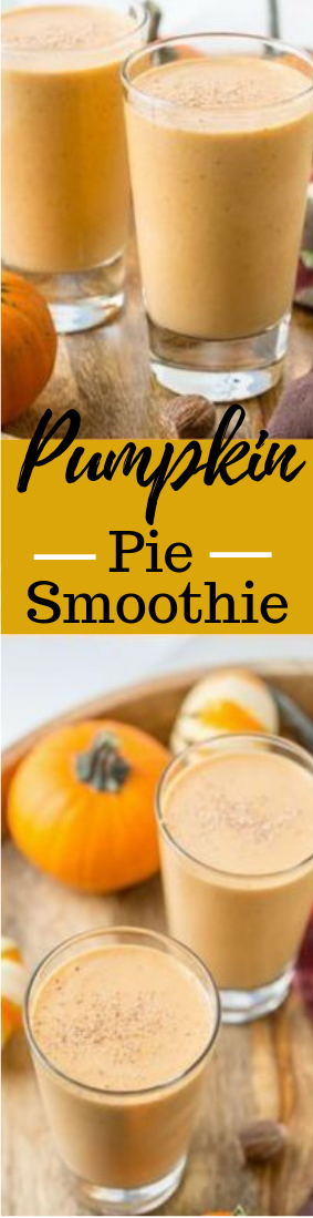 Pumpkin Pie Smoothie #smoothie