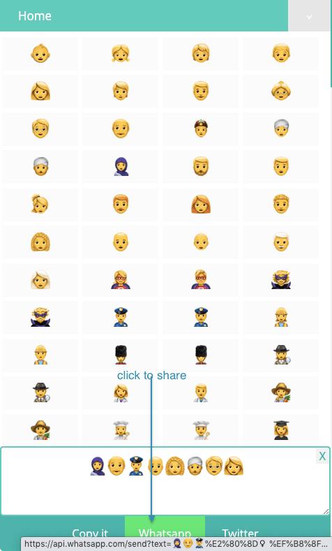 How to Share People Emojis On Whatsapp?
