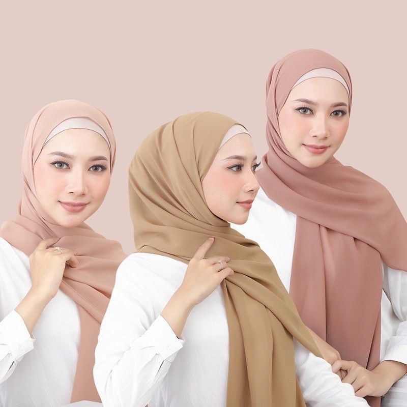 Hijab Pasmina Celorot Body Scroll Kopi Mocca