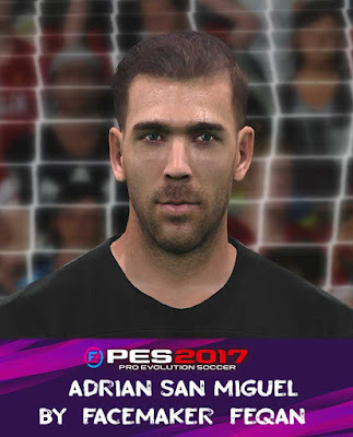 Adrian San Miguel Face Pes 2017 by Feqan
