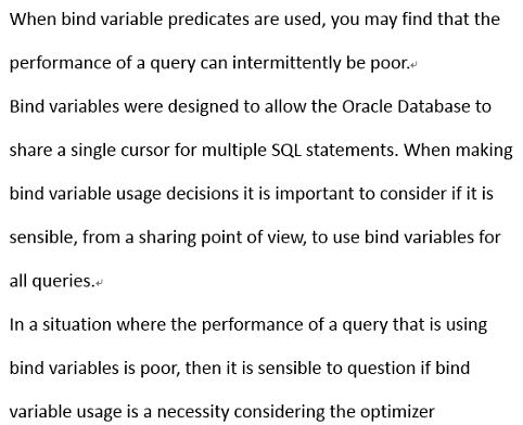 bind variable