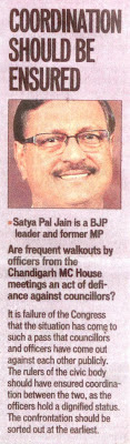 Coordination should be ensured : Satya Pal Jain, BJP leader and former MP