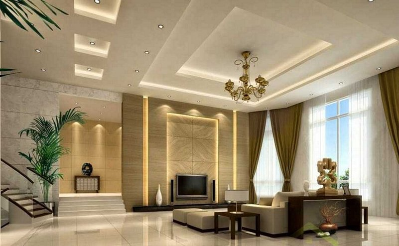 model plafon ruang tamu sederhana yg inspiratif