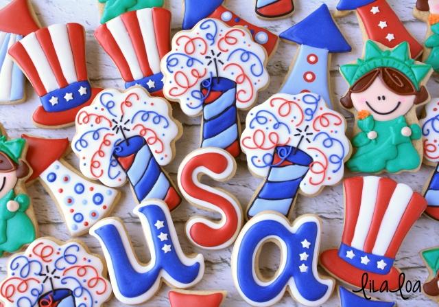 How to make decorated Fourth of July sugar cookies!