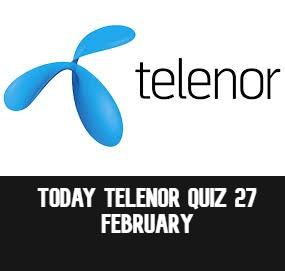 Telenor Answers 27 February 2021