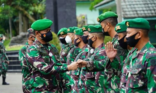 Danrem 061/Sk Pengecekan Awal  Kesiapan Yonif 315/GRD Sebagai Satgas Pamrahwan Papua