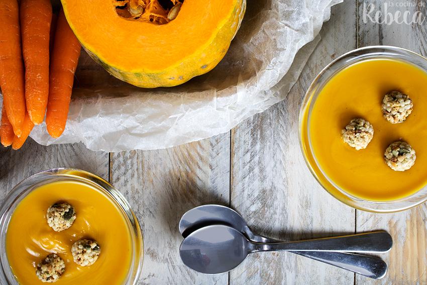 Crema de calabaza y zanahoria al curry