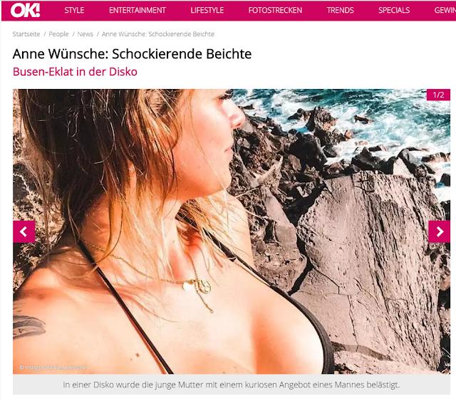 Anne Wünsche: Schockierende Beichte Busen-Eklat in der Disko