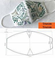 Moldes para máscaras cubrebocas DIY