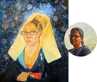 Pritam Bhatty and her work 'Grandma' HuesnShades