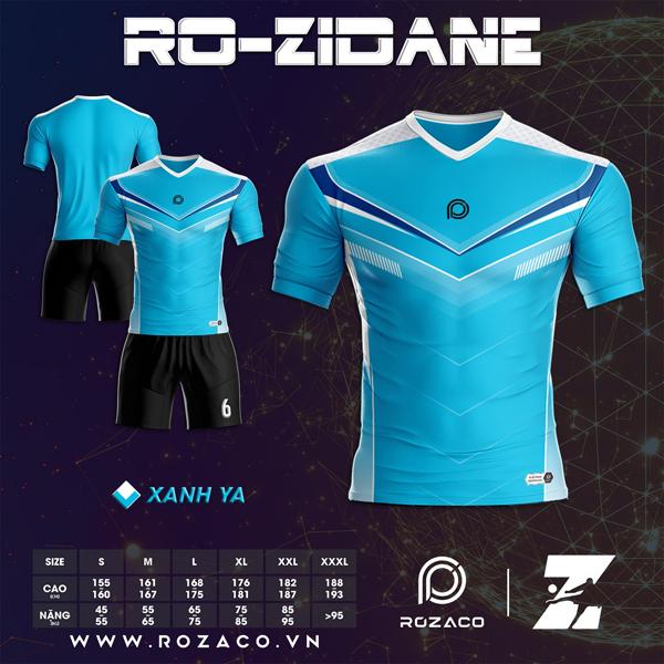 Áo Không Logo Rozaco RO-ZIDANE Màu Xanh Ya