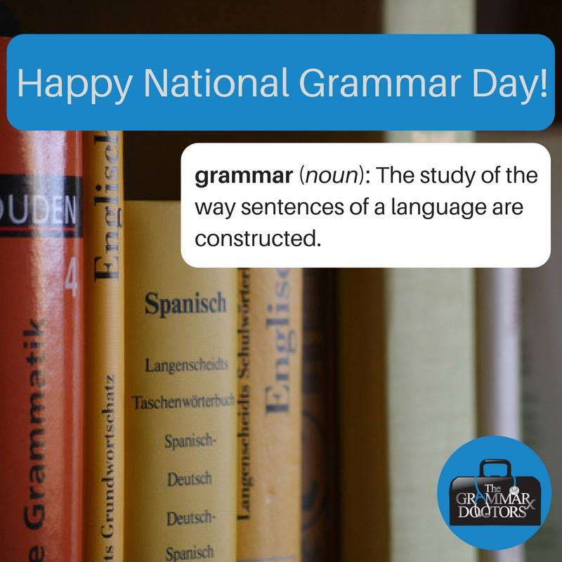 National Grammar Day Wishes Beautiful Image