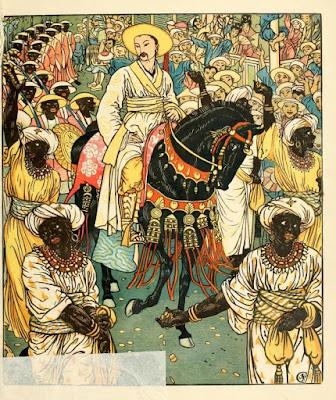 """Aladdin in the procession """"Walter Crane"""""""