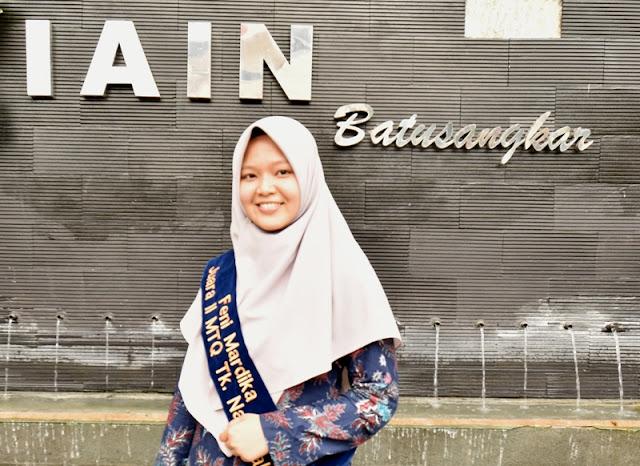 Feni Mardika Mahasiswi IAIN Batusangkar Juara 1 MTQ Se-Asia Tenggara