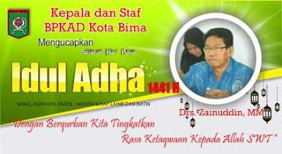 Kepala Beserta Jajaran DPPKAD Kobi Mengucapkan Selamat Hari Raya Idul Adha 1441 Hijriyah