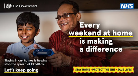 Your Weekend at home is making a difference thank you