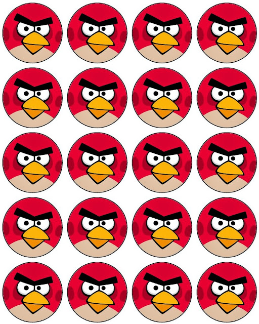 Angry Birds:  Free Printable Toppers, Labels or Stickers.