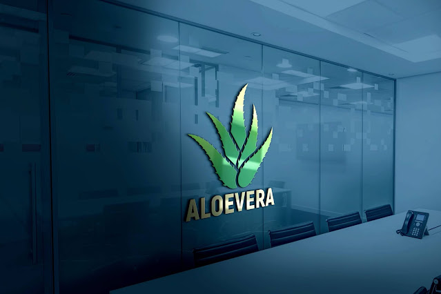 Aloevera Logo Design PSD