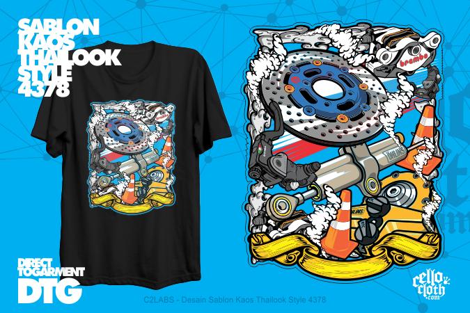 Desain Sablon Kaos Thailook Style 4378 - C2LABS CUSTOM.WEB.ID