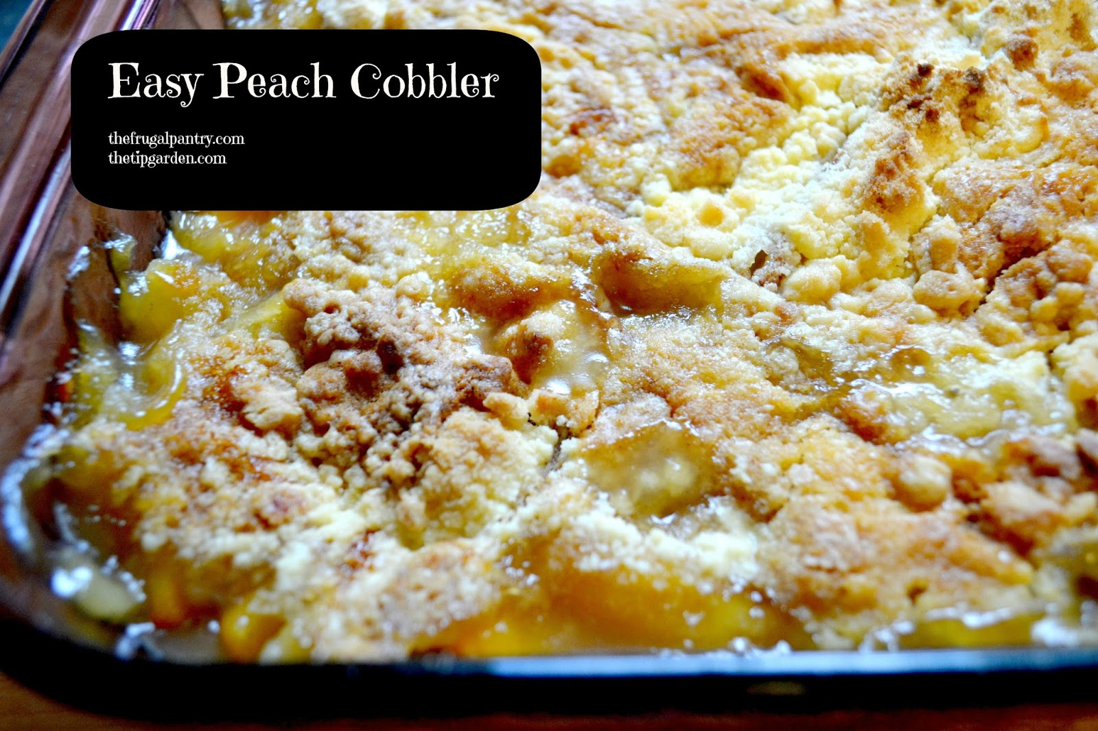 Quick Peach Cobbler With Canned Peaches And Cake Mix