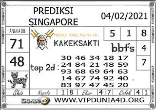 Prediksi Togel SINGAPORE DUNIA4D 04 FEBRUARI 2021