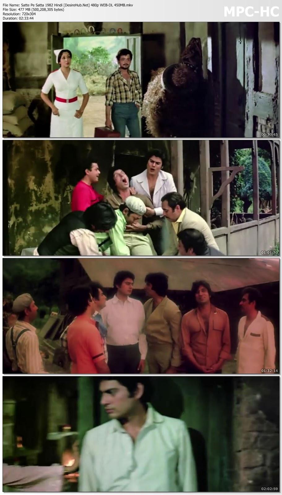 Satte Pe Satta 1982 Hindi 480p WEB-DL 450MB Desirehub