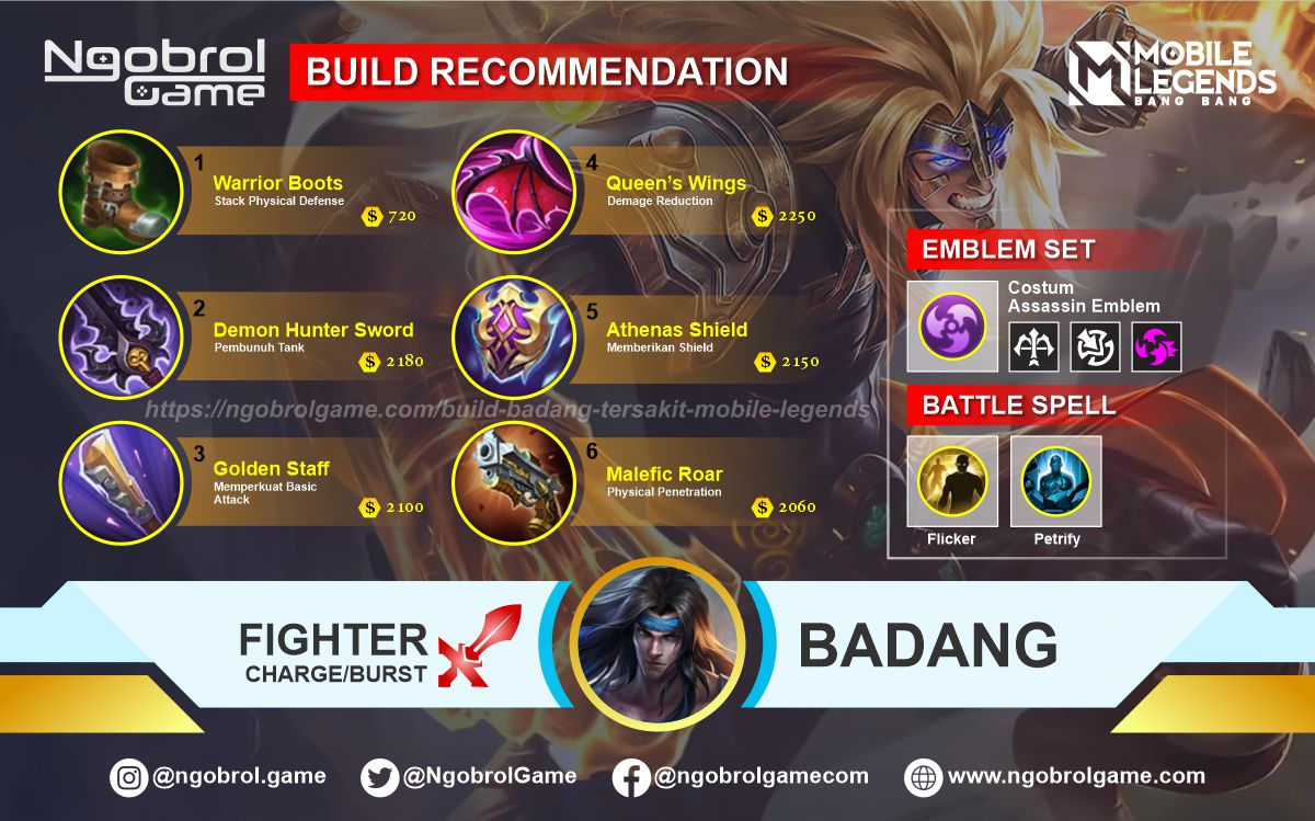 Build Badang Savage Mobile Legends