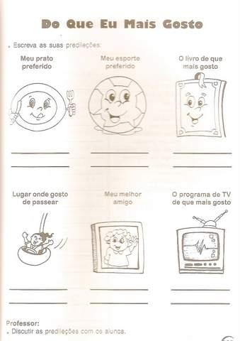 Atividades Identidade Educação Infantil