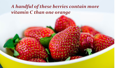 Strawberries are a source of vitamin C