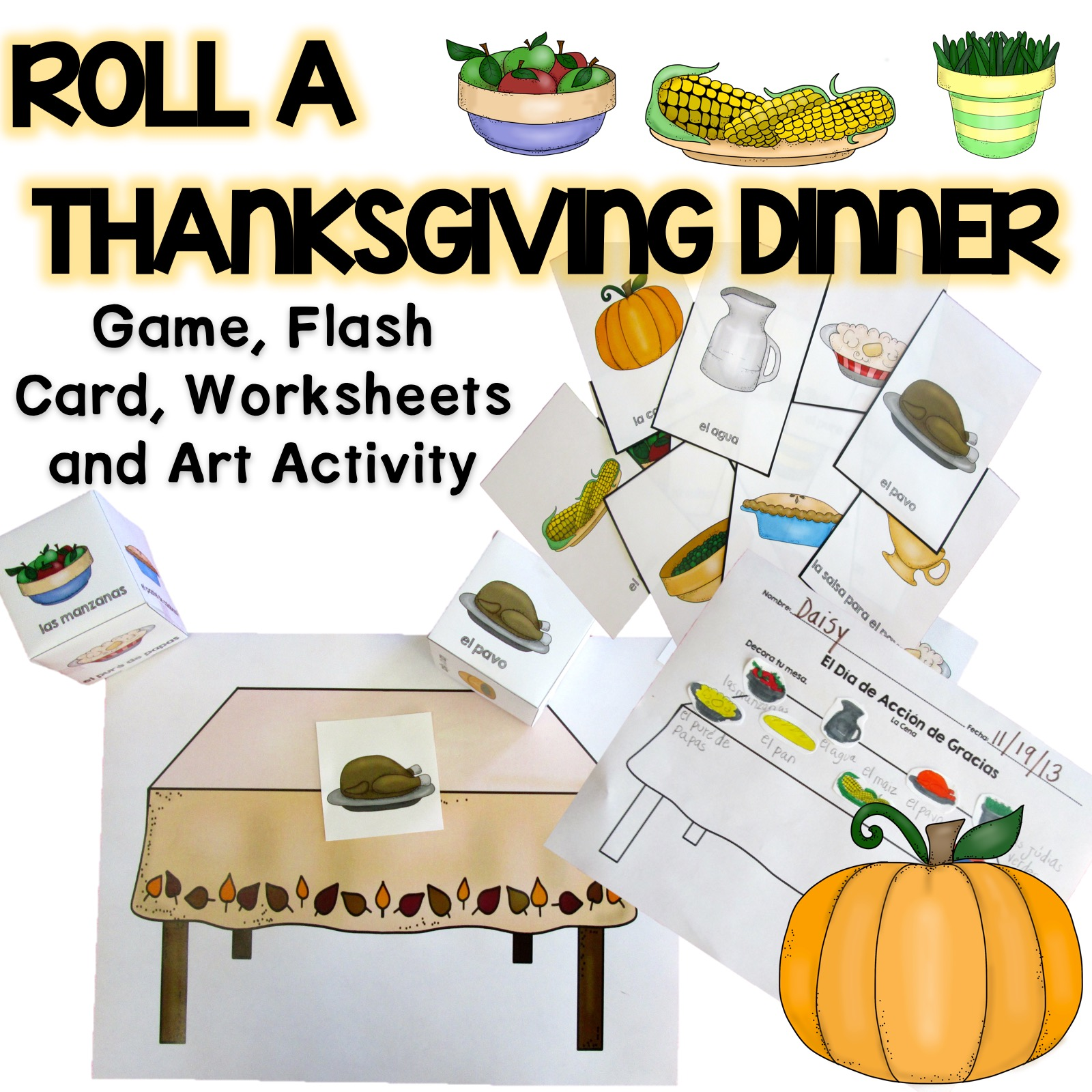 Roll A Thanksgiving Dinner In Spanish Product
