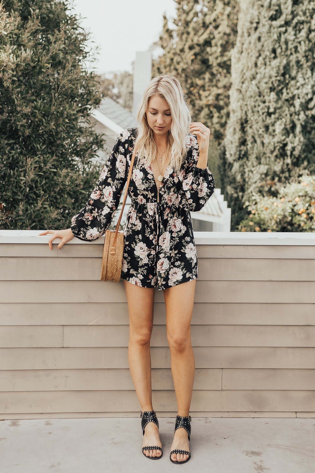 Cute floral romper for spring/summer | Love, Lenore