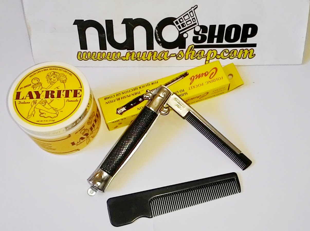 Paket Hemat Layrite Deluxe Pomade + Switchblade Comb