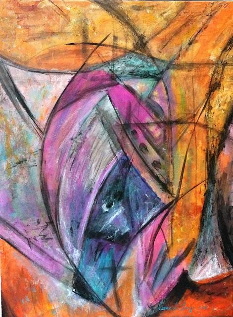 Oana-Singa-Art-Entanglement-with-Pink-III-acrylic-on-canvas