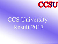 CCS Meerut University Result 2017 @ www.ccsu.ac.in
