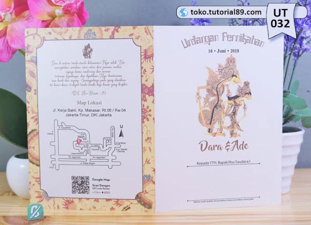 Undangan pernikahan UT032 - Seimpel Lipat 2 +free kartu ucapan terima kasih