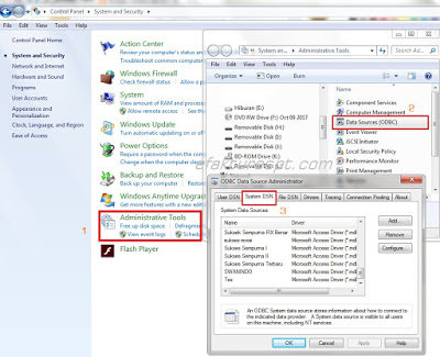 Cara Setting ODBC Untuk Menambah Database e-SPT