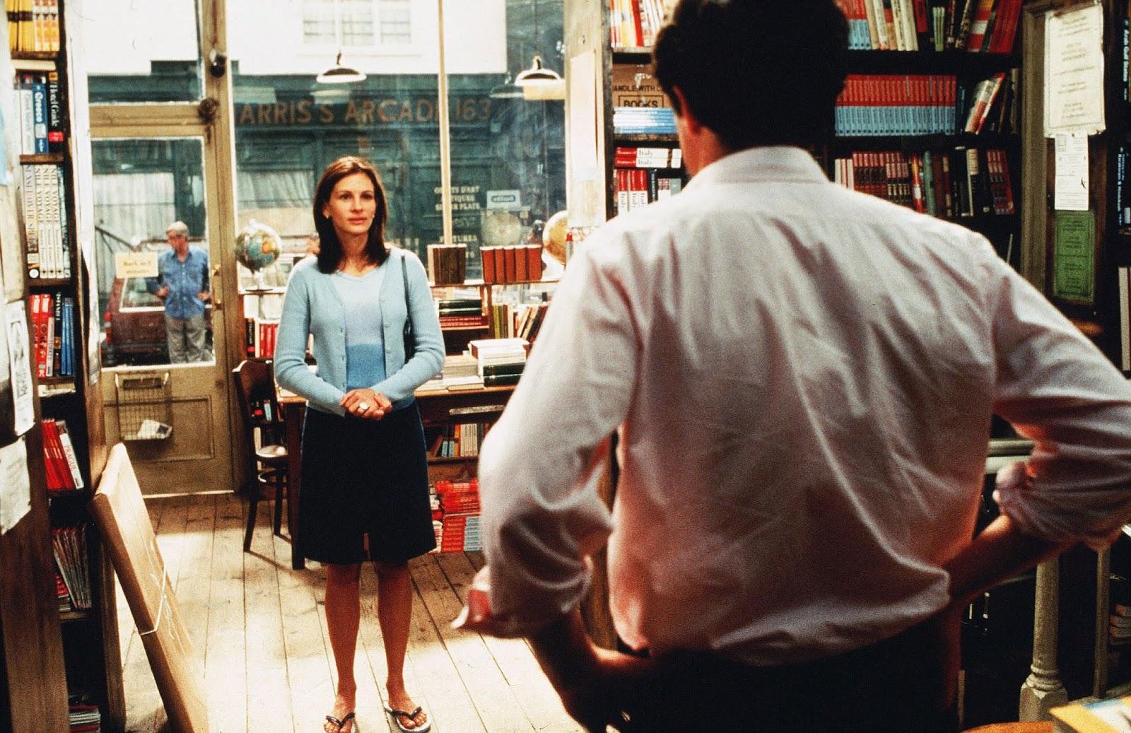 Julia Roberts e Hugh Grant no filme Um Lugar Chamado Notting Hill