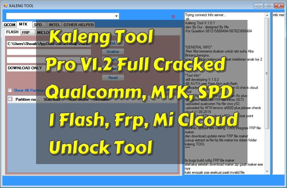 Kaleng Tool Pro V1 2 Full Cracked I Qualcomm, MTK, SPD I