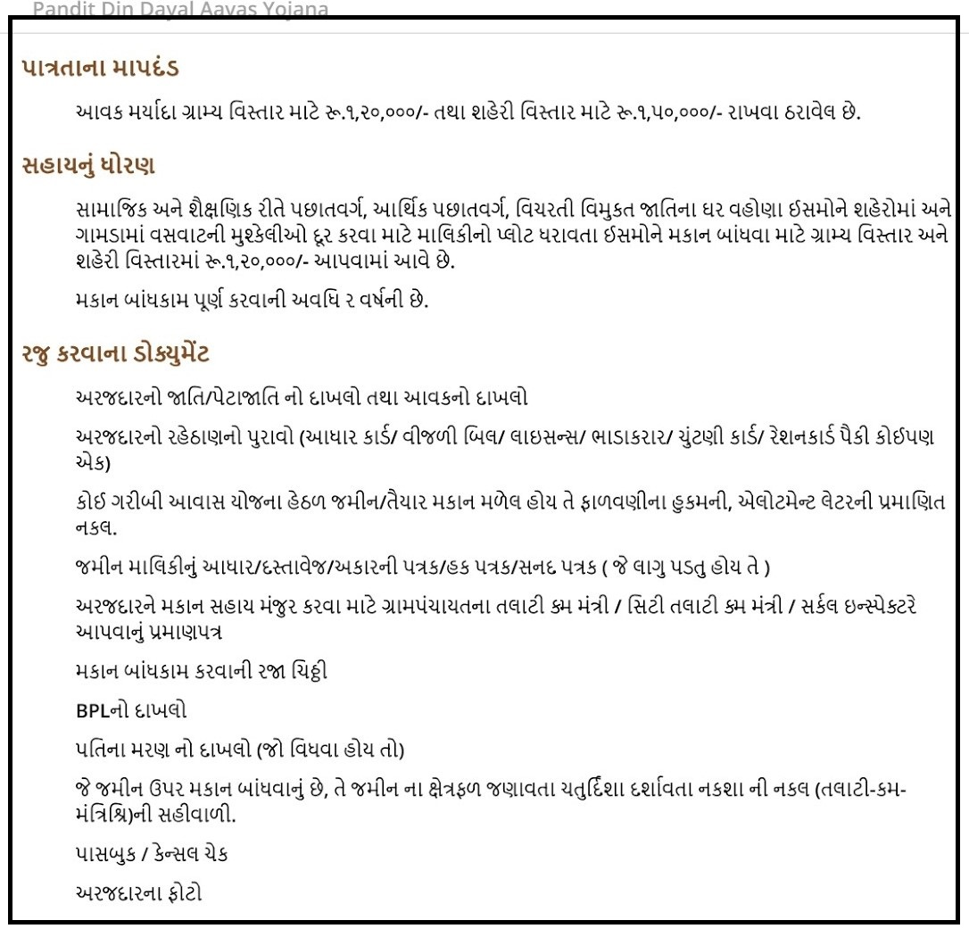 Pandit Din Dayal Upadhyay Awas Yojana 2021-22